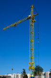 A large construction crane. Working on construction site Stock Photo