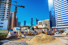 Large construction site in Abu Dhabi. UAE Stock Photos