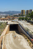 Large construction site in Barcelona Stock Photography