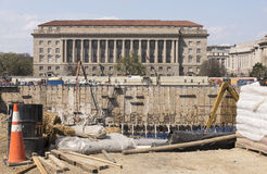 Large construction site excavation for Washington DC museum Royalty Free Stock Image