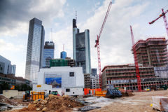 Large construction site in Frankfurt Royalty Free Stock Photo