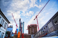 Large construction site in Frankfurt Royalty Free Stock Photography