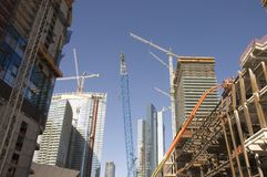 Large Construction Site In Nevada Stock Image