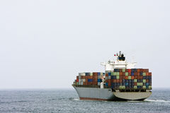 Large container cargo ship at sea. Royalty Free Stock Images