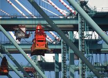 Large Container Cranes Royalty Free Stock Photos