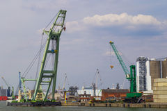 Large container cranes in Port of Antwerp Stock Photography