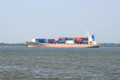 Large container ship Stock Image