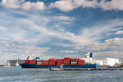 Container ship in Antwerp port Stock Photography