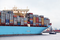Large container ship Royalty Free Stock Photography