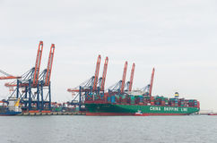 Large container ship Royalty Free Stock Image