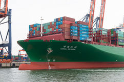 Large container ship Royalty Free Stock Images