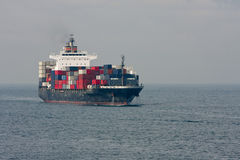 Large container ship at sea Stock Photography