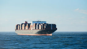 Large Container Ship at Sea Royalty Free Stock Photos