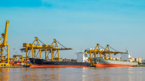 Large container ship Royalty Free Stock Photos