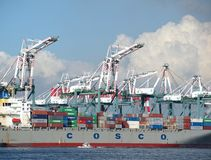 Large Container Terminal Royalty Free Stock Image