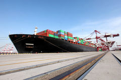Large Container Terminal Royalty Free Stock Photography