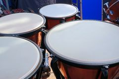 Large Copper Kettledrums Royalty Free Stock Photo