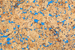 Large corkboard texture. With blue paint Stock Photo