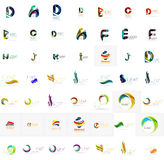 Large corporate company logo collection. Universal Royalty Free Stock Images