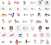Large corporate company logo collection. Universal Stock Images