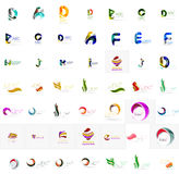 Large corporate company logo collection. Universal Royalty Free Stock Photo