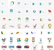 Large corporate company logo collection. Universal. Icon set for various ideas. Vector illustration Vector Illustration