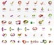 Large corporate company logo collection. Universal Stock Image