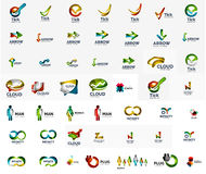 Large corporate company logo collection. Universal. Icon set for various ideas. Vector illustration Stock Illustration