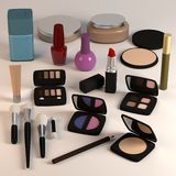 Large cosmetics collection Royalty Free Stock Photos
