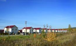Large cottage village Royalty Free Stock Image
