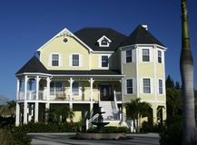Large country home near beach royalty free stock images