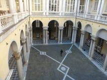 Courtyard at University of Genova stock photo