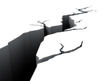 Large Crack. 3d rendered illustration of large crack Stock Illustration