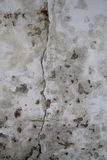 Large Crack in Old Wall. Large Crack in Old Plastered Wall Stock Images