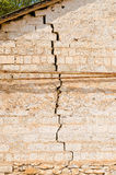 A large crack in the wall Royalty Free Stock Image
