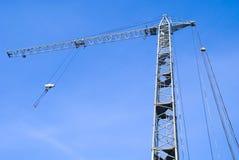 Large crane. New large crane on blue sky background Stock Photo