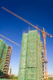 Large crane an building in construction Royalty Free Stock Images