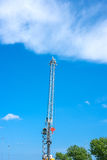 Large crane machinery in daylight. And blue sky Stock Photo