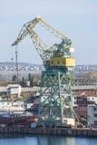 Large crane in port Stock Photos