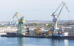 Large crane in port Stock Image