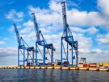 Container Terminal in port Royalty Free Stock Image