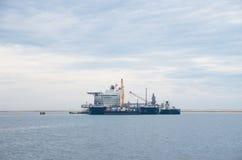 Large crane vessel Stock Images