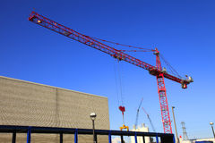 A large crane at work. Royalty Free Stock Photos