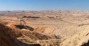 The Large Crater (Makhtesh Gadol) in  Negev desert. In Israel Stock Photography