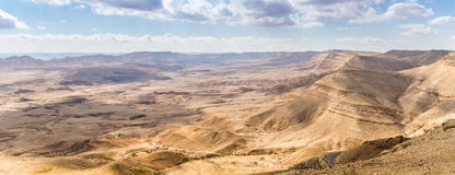 Large Crater, Negev desert Royalty Free Stock Image