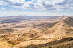 Large Crater, Negev desert Royalty Free Stock Photography