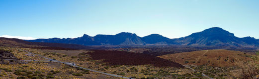 Large crater of the volcano Teide Royalty Free Stock Images