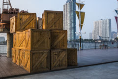 Large crates Royalty Free Stock Photography