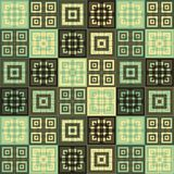 Large Cream brown and green blue square cube pattern background. Large cream brown and green blue squares inside squares cube pattern background wallpaper Stock Photography