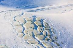 Large crevasses and seracs on Gornergletscher Stock Photos